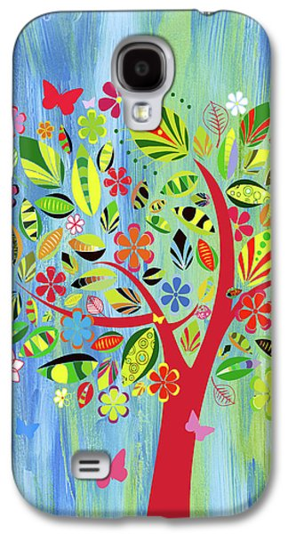 Happy Spring Dance Whimsy Galaxy S4 Case