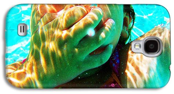 Happy Under Water Pool Girl Horizontal Galaxy S4 Case by Tony Rubino