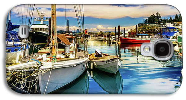 Harbor On Guemes Channel Galaxy S4 Case by TL  Mair
