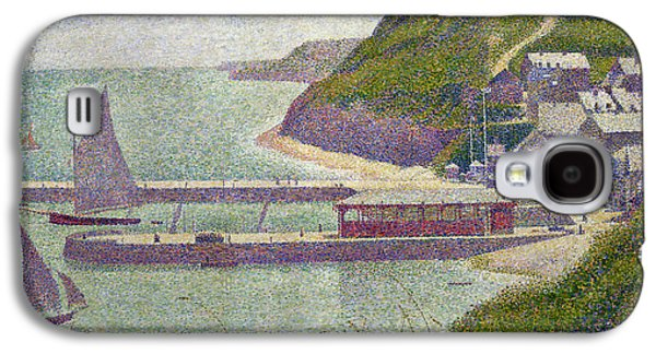 Harbour At Port En Bessin At High Tide Galaxy S4 Case