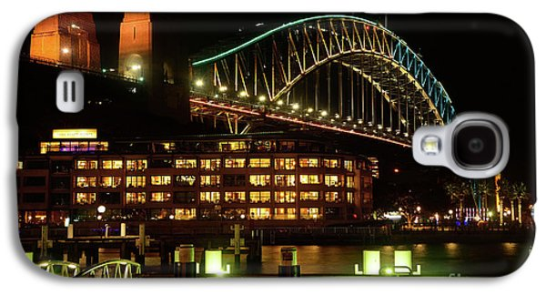 Harbour Bridge Aqua Gold Vivid Sydney 2016 By Kaye Menner Galaxy S4 Case by Kaye Menner