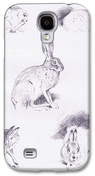 Hare Studies Galaxy S4 Case by Archibald Thorburn