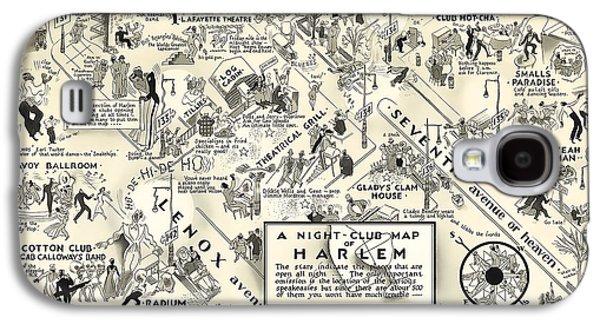 Harlem Galaxy S4 Case - Harlem Prohibition Nightclub Map 1926 by Daniel Hagerman