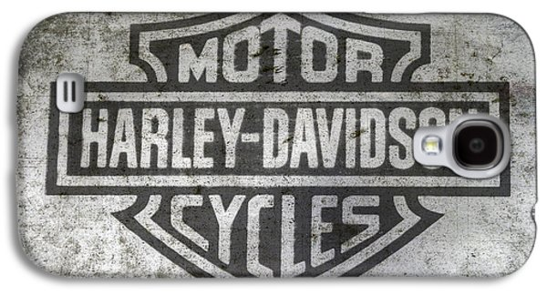 Harley Davidson Logo On Metal Galaxy S4 Case
