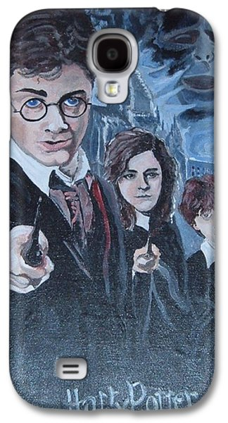 Harry Potter Galaxy S4 Case by Julie Cranfill