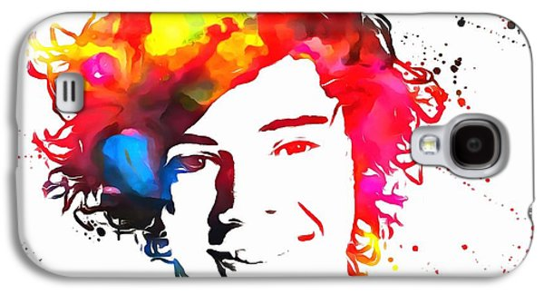 Harry Styles Paint Splatter Galaxy S4 Case by Dan Sproul
