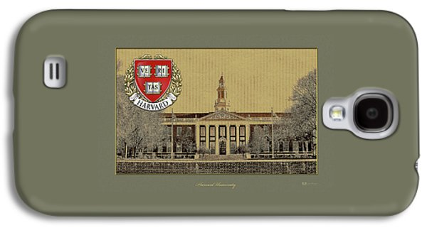 Harvard University Building Overlaid With 3d Coat Of Arms Galaxy S4 Case by Serge Averbukh