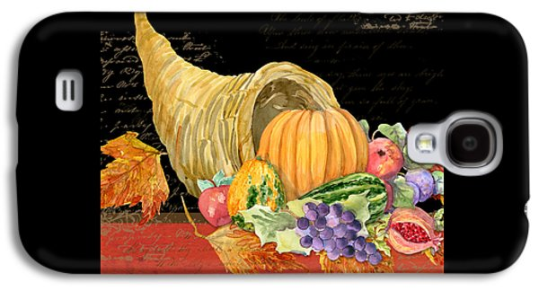 Harvest Cornucopia Of Blessings - Pumpkin Pomegranate Grapes Apples Galaxy S4 Case by Audrey Jeanne Roberts