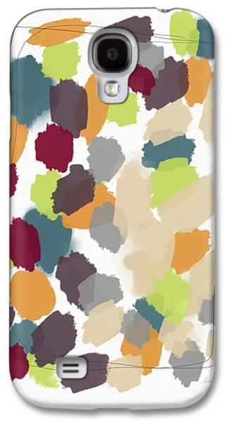 Pumpkin Galaxy S4 Case - Harvest Day- Abstract Art By Linda Woods by Linda Woods