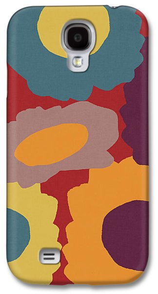 Harvest Flowers Red- Art By Linda Woods Galaxy S4 Case