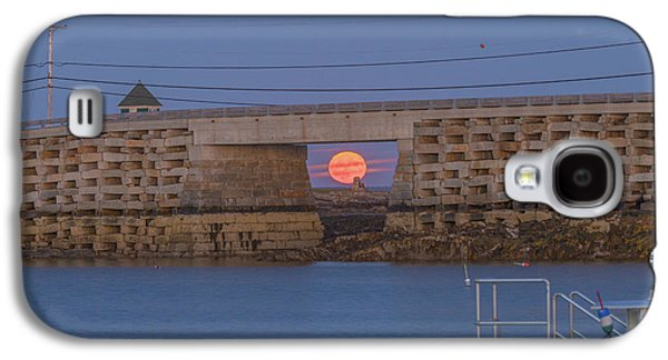 Harvest Moon Over Harpswell Galaxy S4 Case