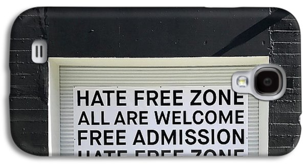 Galaxy S4 Case - Hate Free Zone by Julie Gebhardt