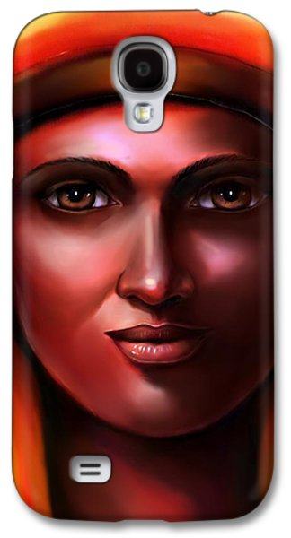 Hathor -egyptian Goddess Galaxy S4 Case by Carmen Cordova