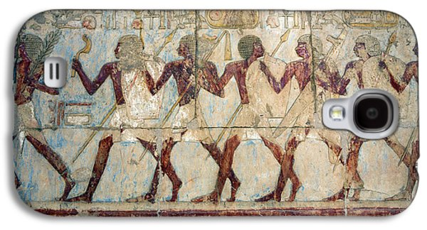 Hatshepsut Temple Parade Of Soldiers Galaxy S4 Case by Aivar Mikko