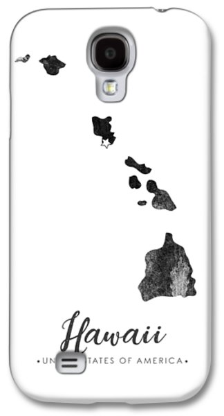 Hawaii State Map Art - Grunge Silhouette Galaxy S4 Case