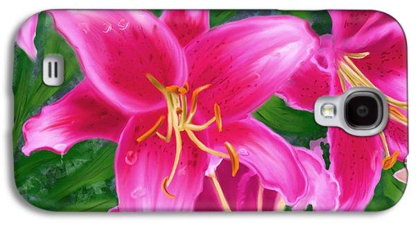 Hawaiian Flowers Galaxy S4 Case