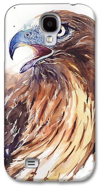 Falcon Galaxy S4 Case - Hawk Watercolor by Suzann's Art