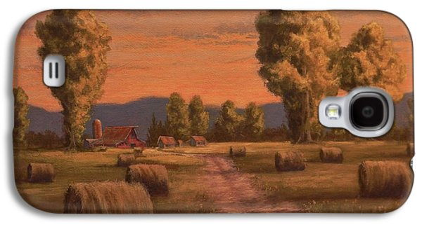 Hay Bales Galaxy S4 Case by Paul K Hill