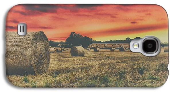 Hay Bales Sunset Galaxy S4 Case