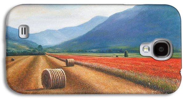 Haybales In Italy Galaxy S4 Case by Ann  Cockerill