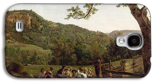 Haymakers Picnicking In A Field Galaxy S4 Case by Jean Louis De Marne