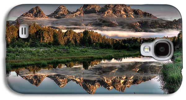Mountain Galaxy S4 Case - Hazy Reflections At Scwabacher Landing by Ryan Smith