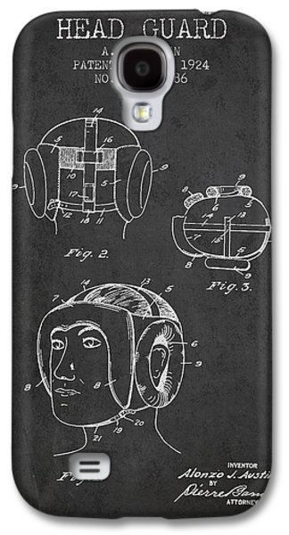 Head Guard Patent From 1924 - Charcoal Galaxy S4 Case