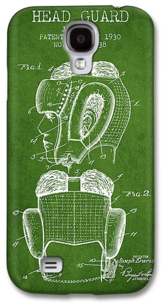 Head Guard Patent From 1930 - Green Galaxy S4 Case