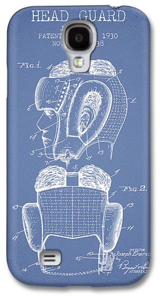Head Guard Patent From 1930 - Light Blue Galaxy S4 Case