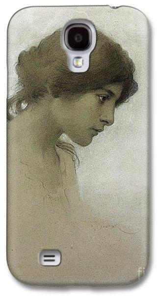 Head Of A Girl  Galaxy S4 Case by Franz Dvorak