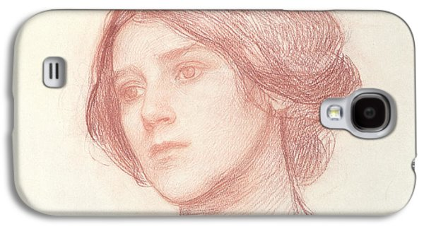Head Of A Girl Galaxy S4 Case by John William Waterhouse