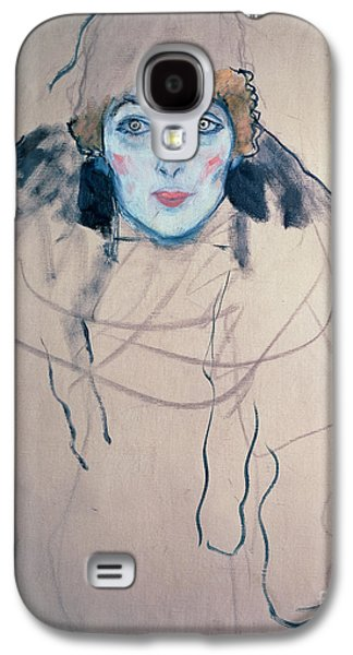 Head Of A Woman Galaxy S4 Case by Gustav Klimt