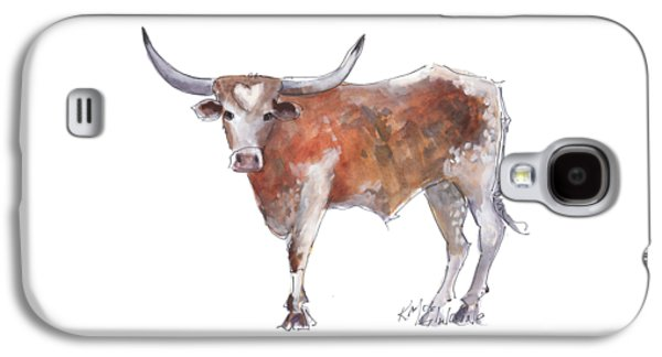 Cow Galaxy S4 Case - Heart Of Texas Longhorn by Kathleen McElwaine