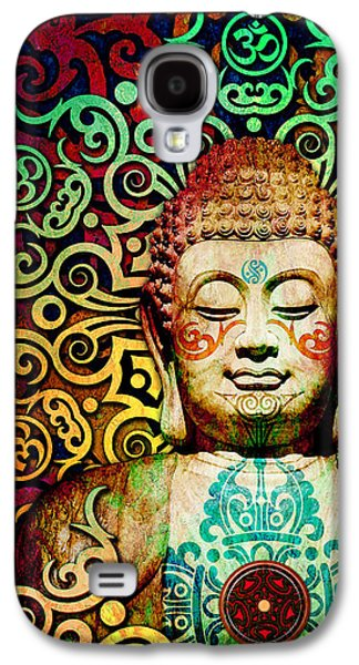 Heart Of Transcendence - Colorful Tribal Buddha Galaxy S4 Case