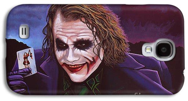 Knight Galaxy S4 Case - Heath Ledger As The Joker Painting by Paul Meijering