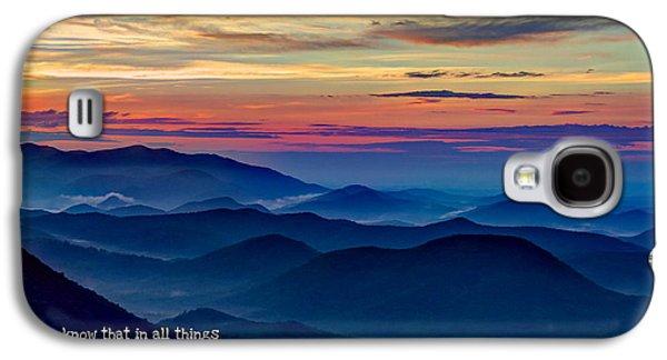 Heavenly View Sunrise And Faith Galaxy S4 Case by Reid Callaway