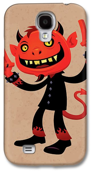 Heavy Metal Devil Galaxy S4 Case by John Schwegel