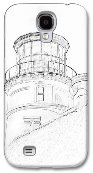 Hecitia Head Lighthouse Sketch Galaxy S4 Case