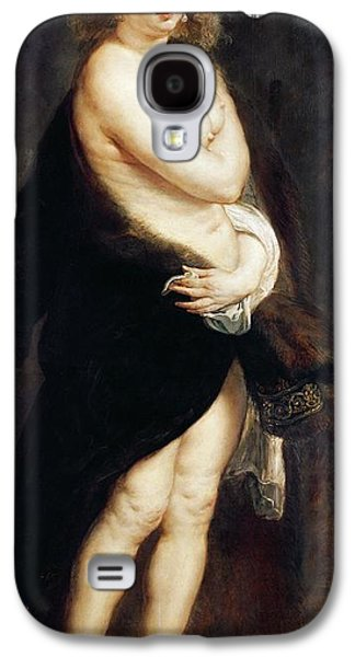 Helena Fourment In A Fur Wrap Galaxy S4 Case by Rubens