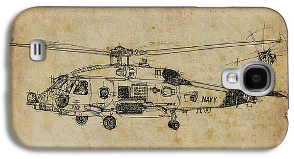 Helicopter Galaxy S4 Case - Helicopter 01 by Drawspots Illustrations