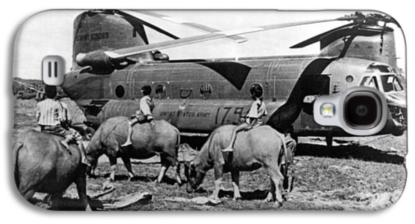 Helicopters And Water Buffalos Galaxy S4 Case by Underwood Archives