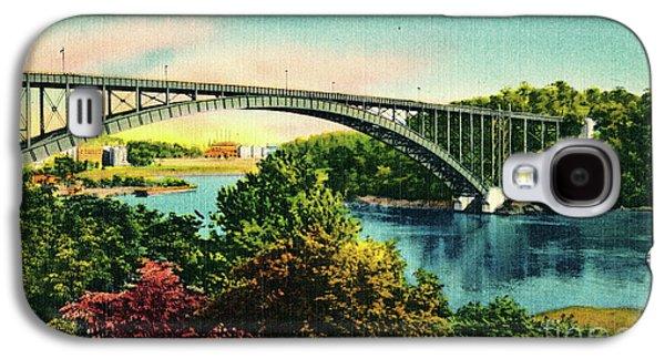 Henry Hudson Bridge Postcard Galaxy S4 Case by Cole Thompson