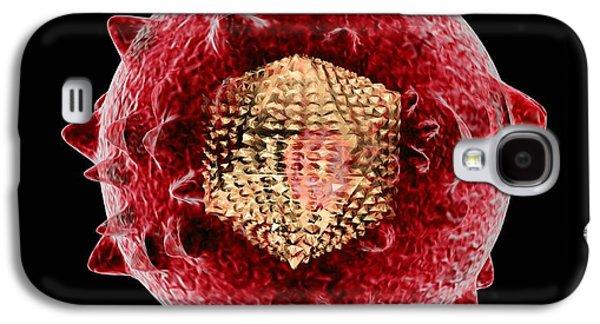 Microbiological Galaxy S4 Cases - Hepatitis C Virus, Artwork Galaxy S4 Case by Mehau Kulyk