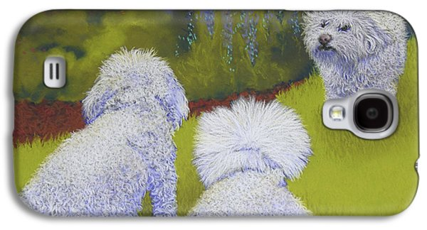 Dogs Pastels Galaxy S4 Cases - Her Royal Court Galaxy S4 Case by Tracy L Teeter
