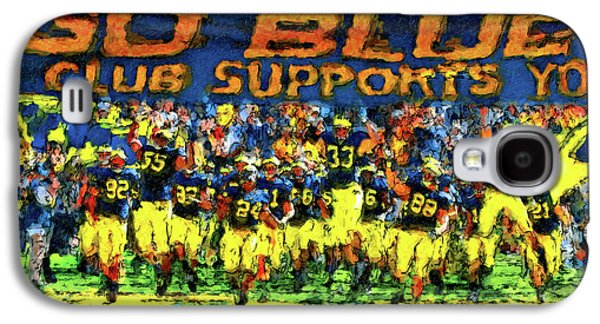University Of Michigan Galaxy S4 Case - Here We Come by John Farr