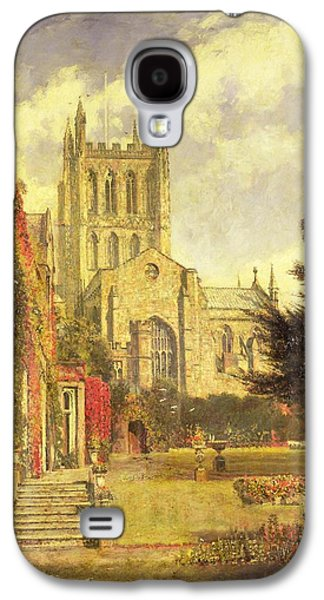 Hereford Cathedral Galaxy S4 Case by John William Buxton Knight