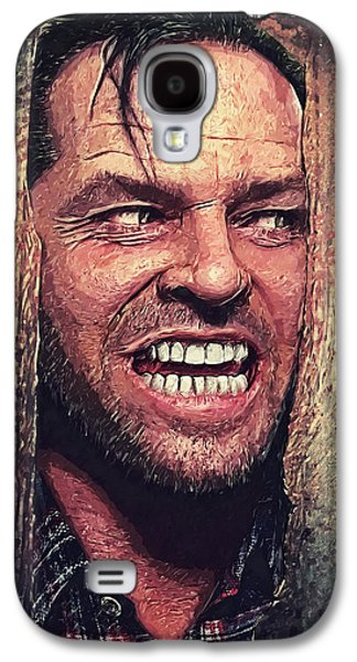 Jack Nicholson Galaxy S4 Case - Here's Johnny - The Shining  by Taylan Soyturk
