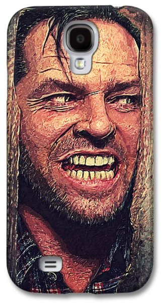 Here's Johnny - The Shining  Galaxy S4 Case by Taylan Apukovska