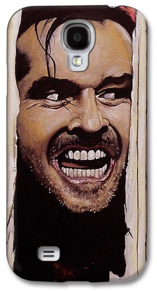 Jack Nicholson Galaxy S4 Case - Here's Johnny by Tom Carlton