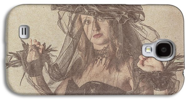 Heritage Fashion Girl Posing In Vintage Hat Galaxy S4 Case by Jorgo Photography - Wall Art Gallery